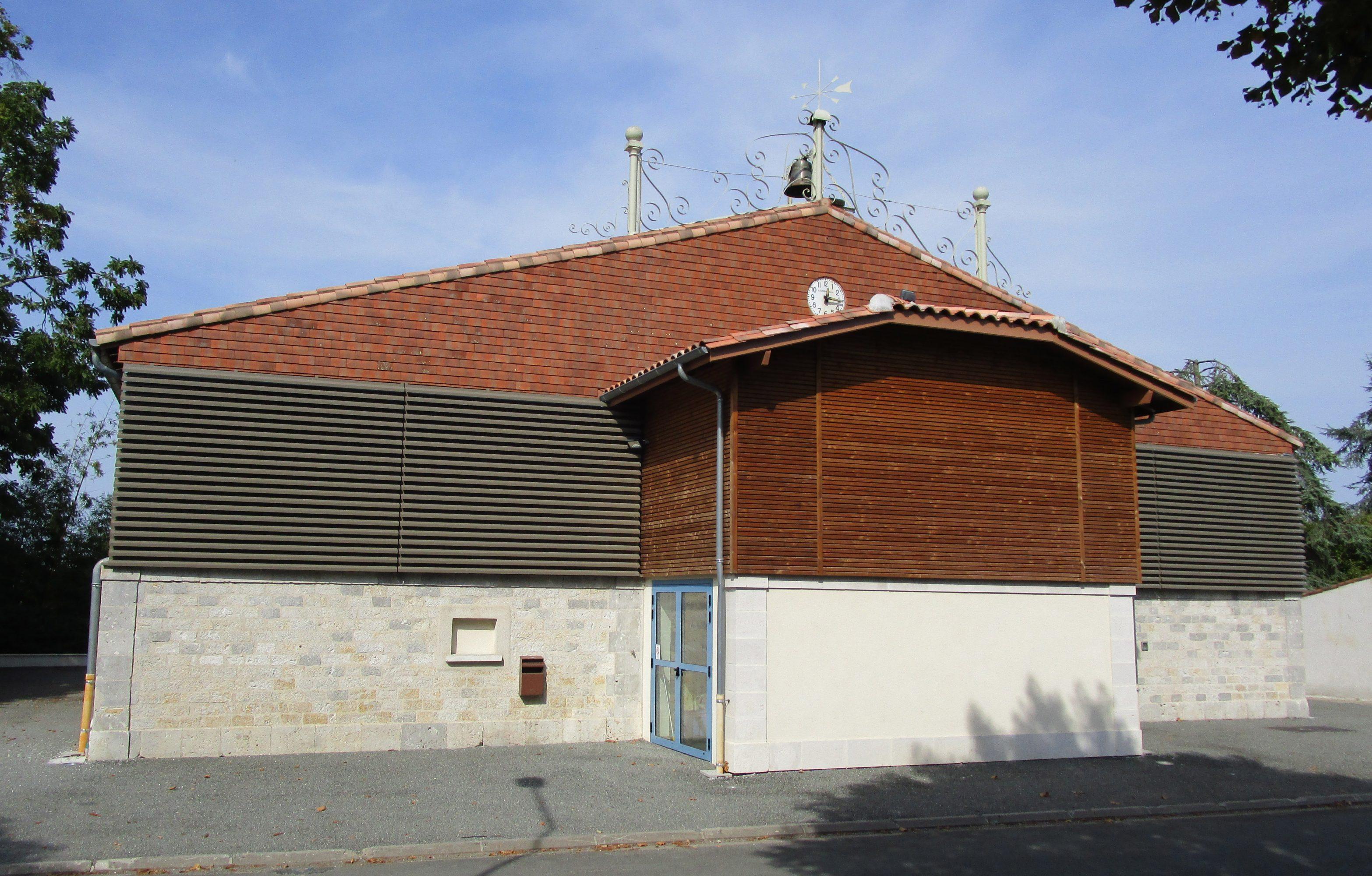 façade de la salle des fêtes