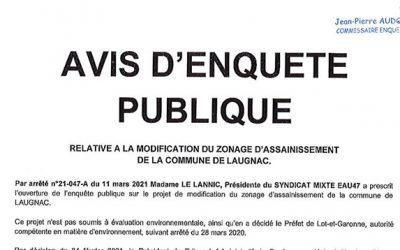 Modification du zonage d'assainissement de la commune de Laugnac